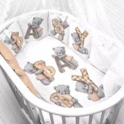 """Панели для подушек """"Мишка с буквами"""" (Набор 4 шт)"""