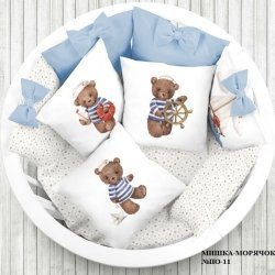 "Панели для подушек ""Морячок мишка"" (Набор 4 шт)"