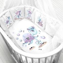 """Панели для подушек """"Подводный мир"""" (Набор 4 шт)"""