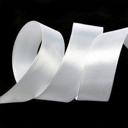 """Атласная лента """"Белый"""" 2,5 см"""