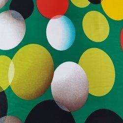 """Атлас зеленый """" Яркие шары"""""""
